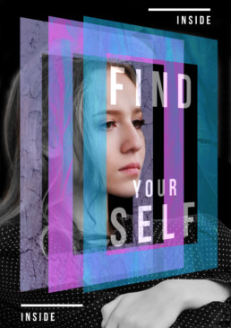 graphic design woman find your self